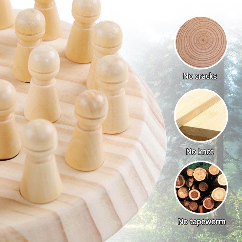 Wooden Chess Children's Early Education Boutique Memory Chess Kindergarten Training Focus Memory Parent-child Interactive Educational Toys