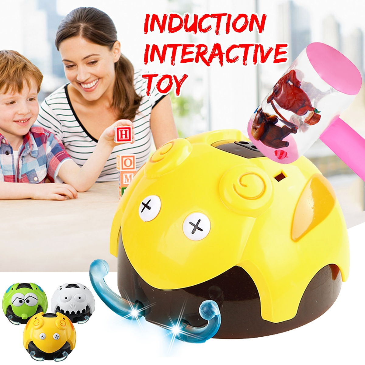 Electric Induction Interactive Insect Trick or Treat Undead Bug Novelties Toys for Kids