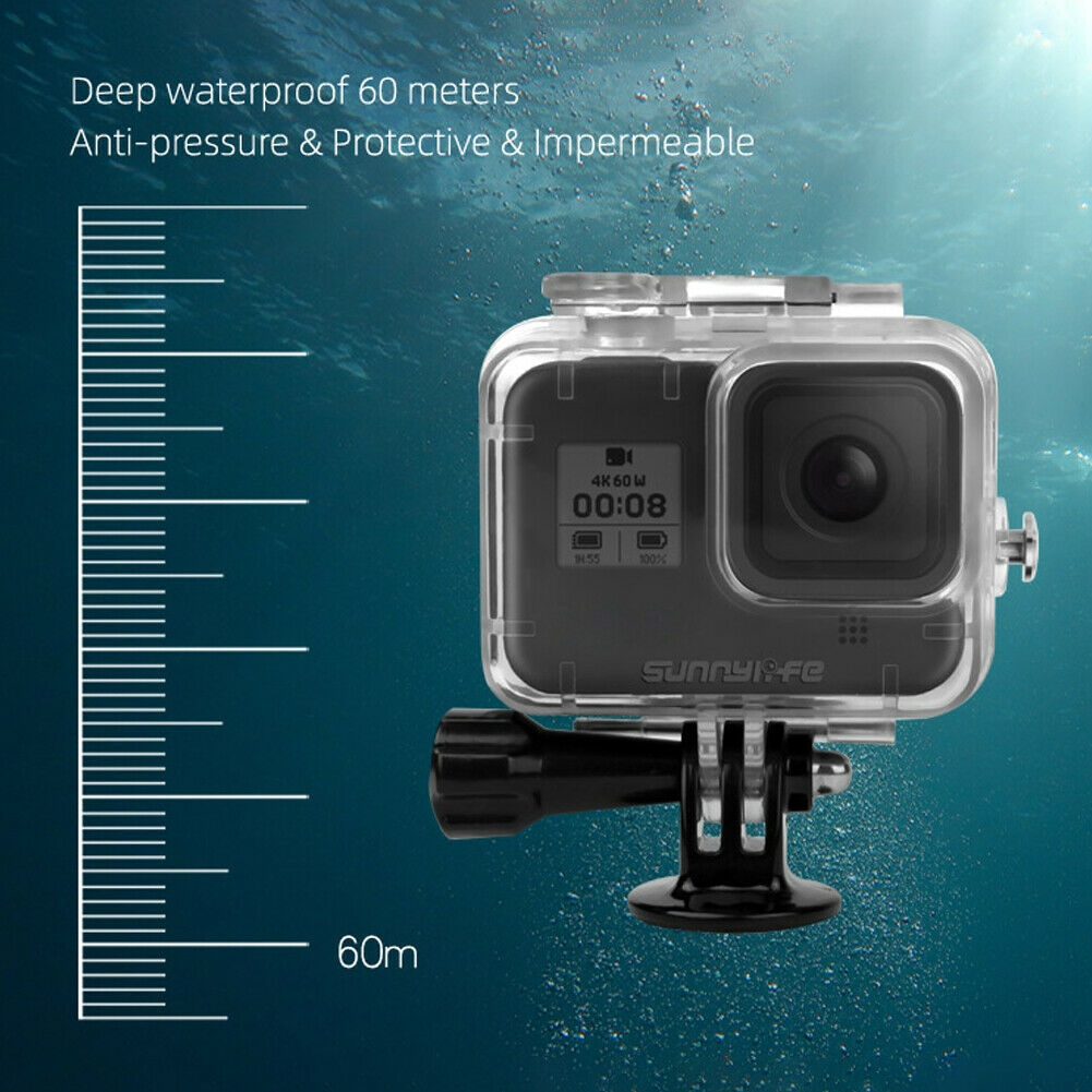 Sunnylife Waterproof Case 60m Underwater Diving for Gopro 8 Photography Support Filter Lens GoPro Camera Accessories
