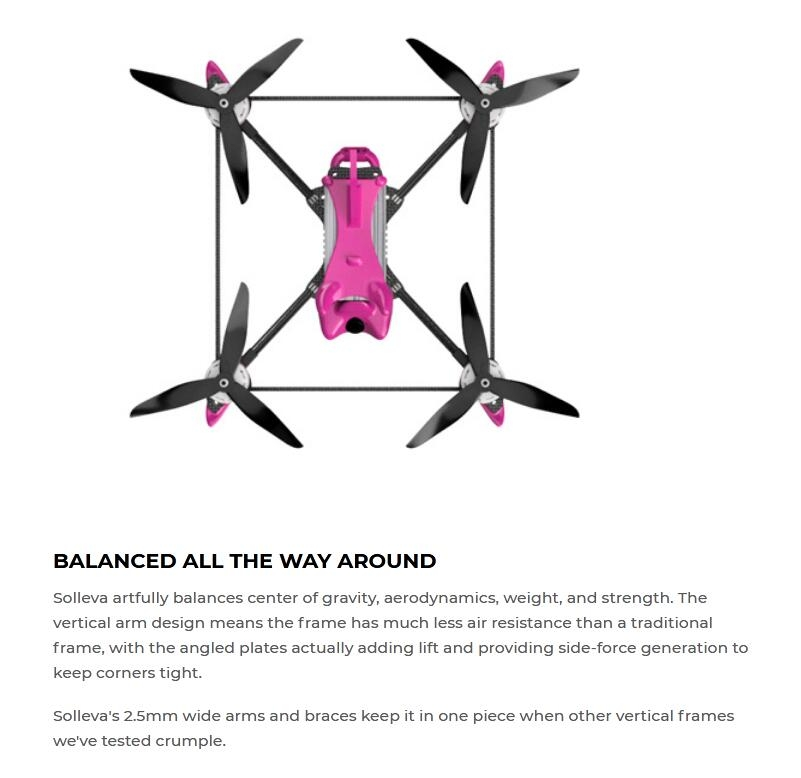 DIATONE&FALCON MULTIROTORS SOLLEVA 240mm Frame Kit compatible DJI FPV Air Unit 20.5/30.5mm Hole