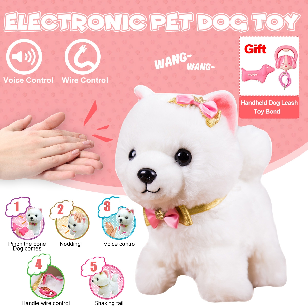 Simulation Dog Plush Electric Toy Dog Girl Gift Will Call Machine Electronic Puppy Toys