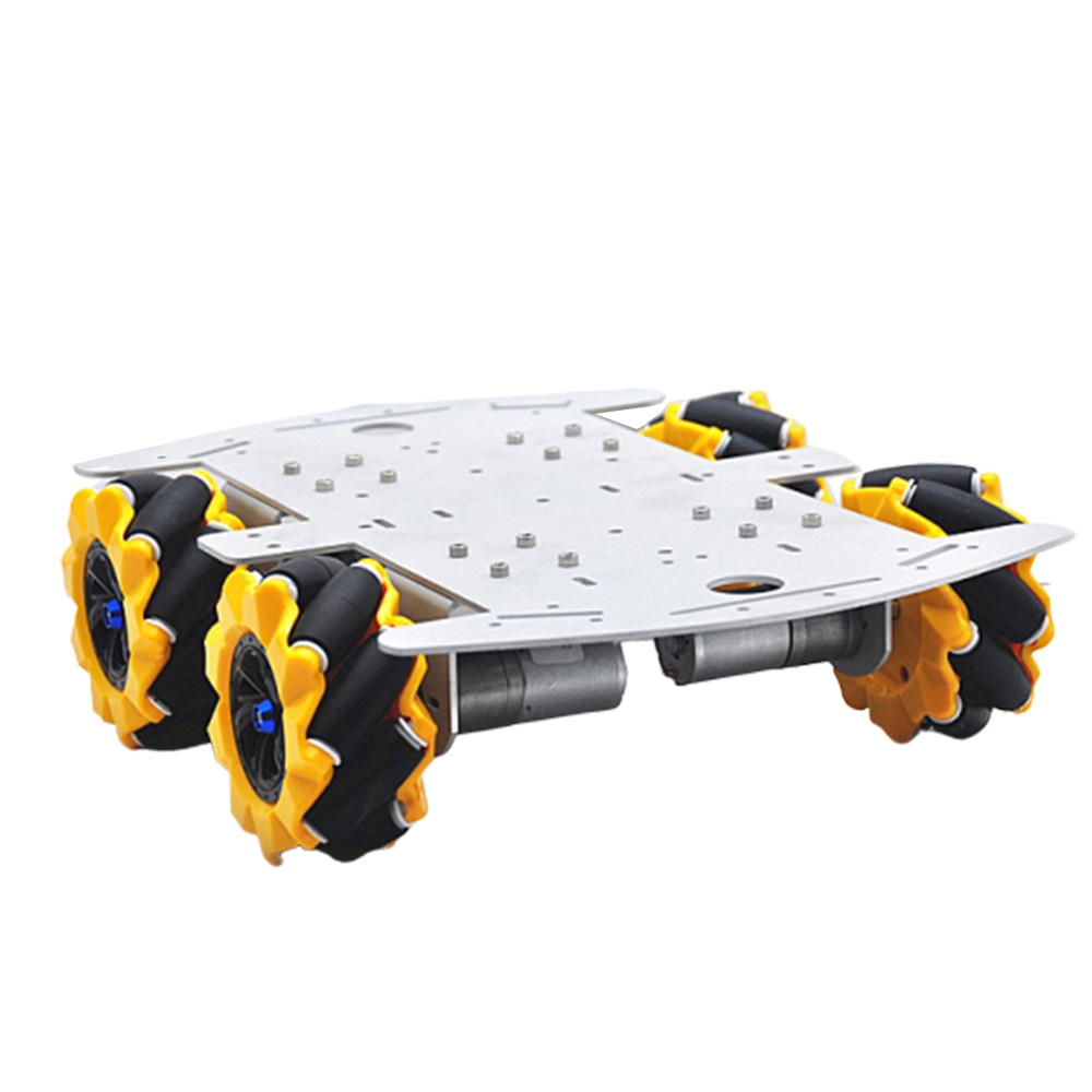 D-46 DIY 4WD Smart RC Robot Car Chassis Base With Omni Wheels