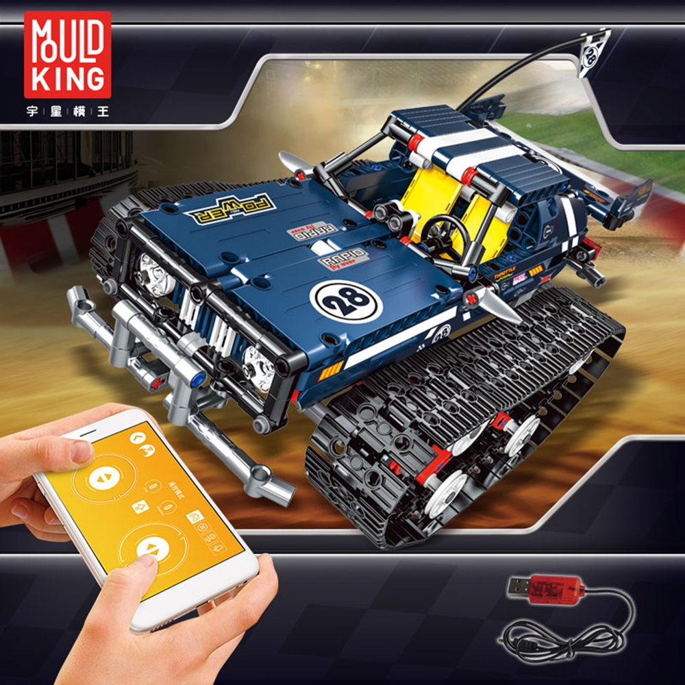 Mould King 2.4G DIY Smart RC Robot Car Block Building Bluetooth APP/Stick Control Programmable Robot Car Toy