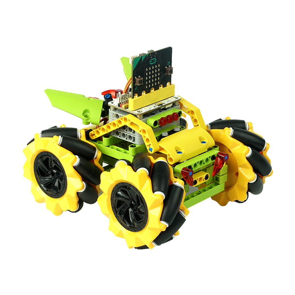 $121.67 for ELECFREAKS DIY Micro:bit Graphic Program Stick Control Smart RC Robot Car With 80mm Omni Wheels Compatible With LEGO