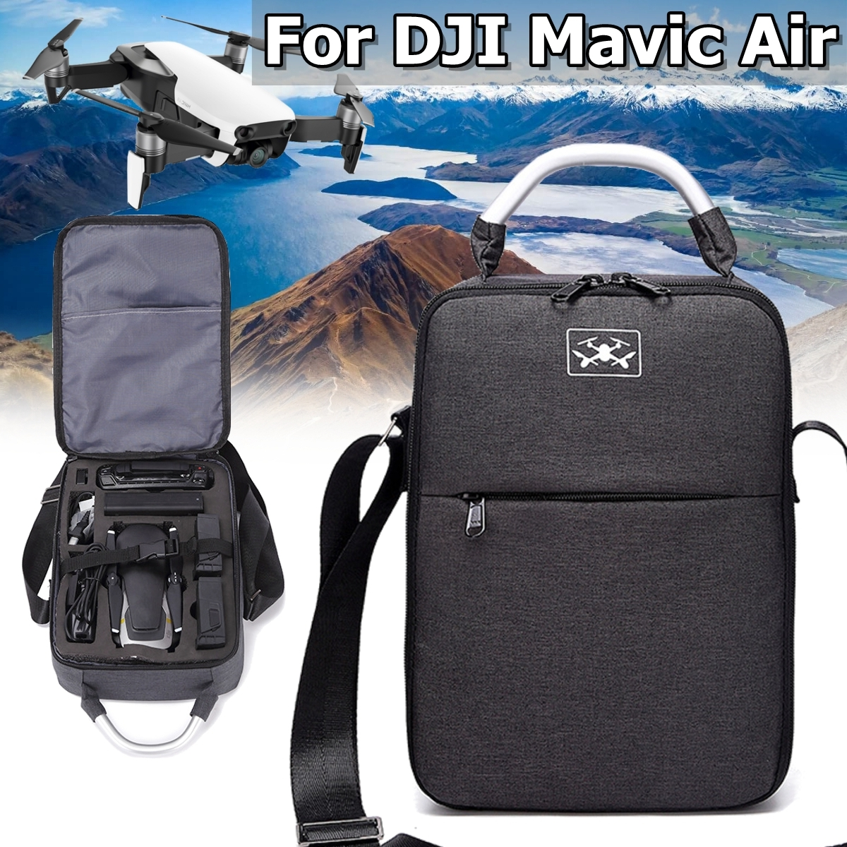 Waterproof Shoulder Bag Backpack Storage Carrying Case Box For DJI Mavic Air Drone