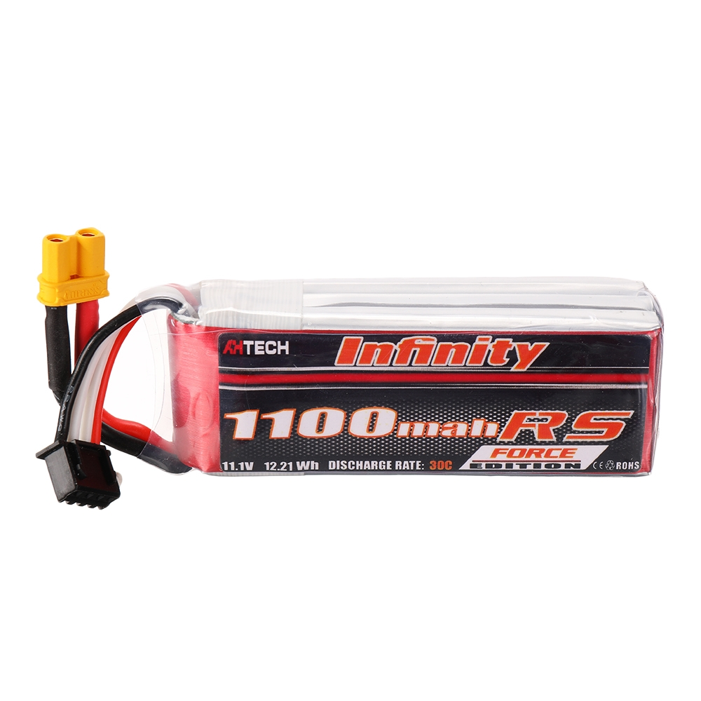 AHTECH Infinity 11.1V 1100mAh 30C 3S Lipo Battery XT30 Plug for RC Drone