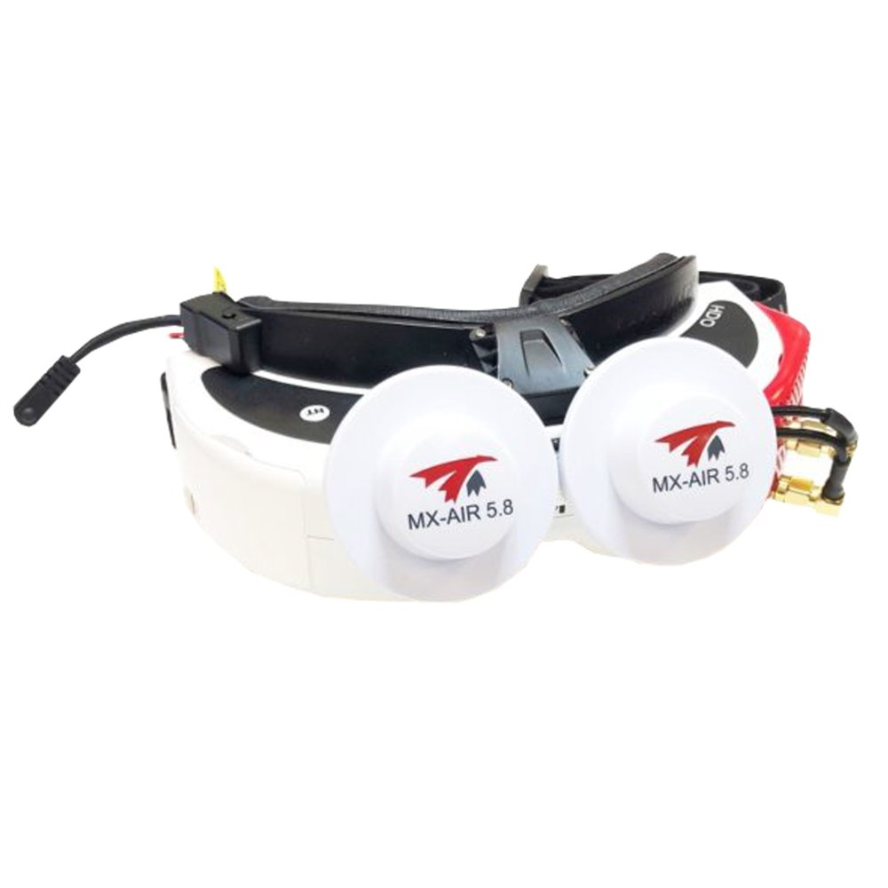 TRUERC MX-AIR Array 5.8GHz 5.8dBi Gain LHCP/RHCP FPV Antenna With SMA90 Male Connector For Rapidfire/FatShark FPV Goggles