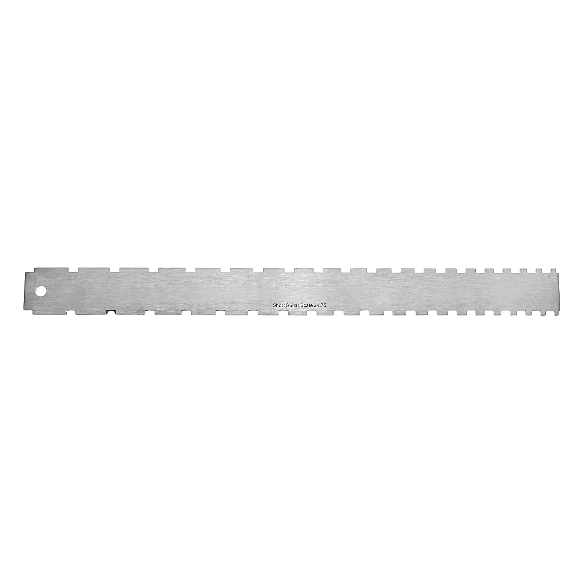 Stainless Steel Guitar Neck Notched Straight Edge Dual Scale Measuring Tool Guitar Fret Ruler for Measuring Fretboard