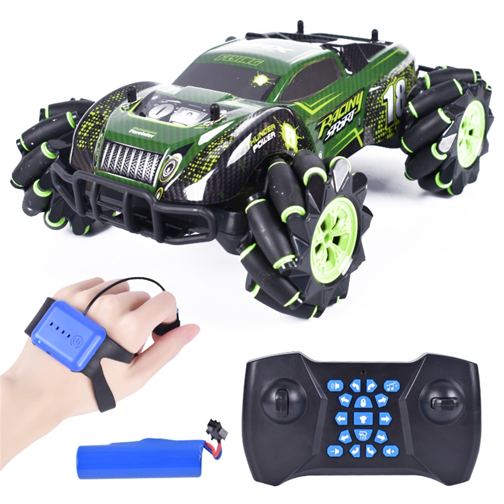 1:12 RQ2078 Four-Wheel Drive Gesture Sensing Dual RC Light Music Dancing 360 ° Rotating Off-Road Climbing RC Car