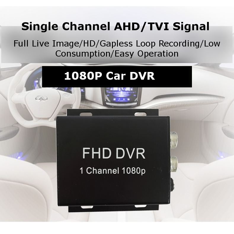 AFN Mini DVR HD 1080P 60fps AHD/TVI CVBS Single Channel 1 Way Car Recorder Support 256GB SD 9-30V for Car Outdoor Home RC