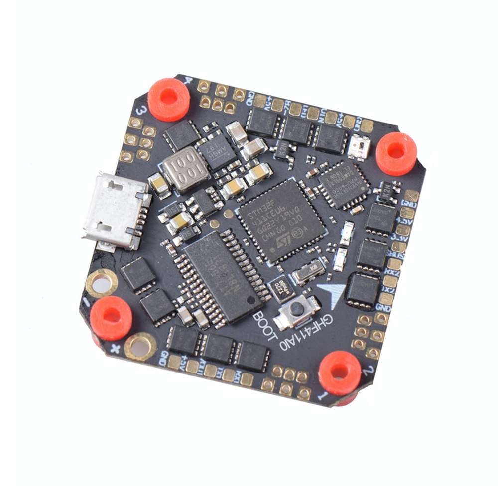JHEMCU GHF411AIO F4 OSD Flight Controller Built-in 20A BL_S 2-4S 4in1 ESC for Toothpick FPV Racing Drone