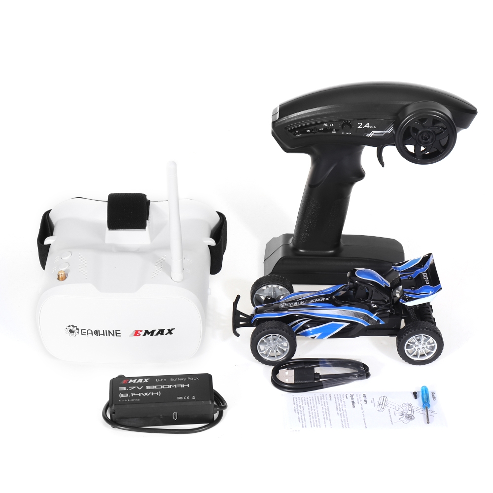 $47.59-83.29 for Eachine & EMAX EAT03 1/24 2.4G RWD Electric FPV RC Car With Goggles for Interceptor Full Proportional Control RTR Model