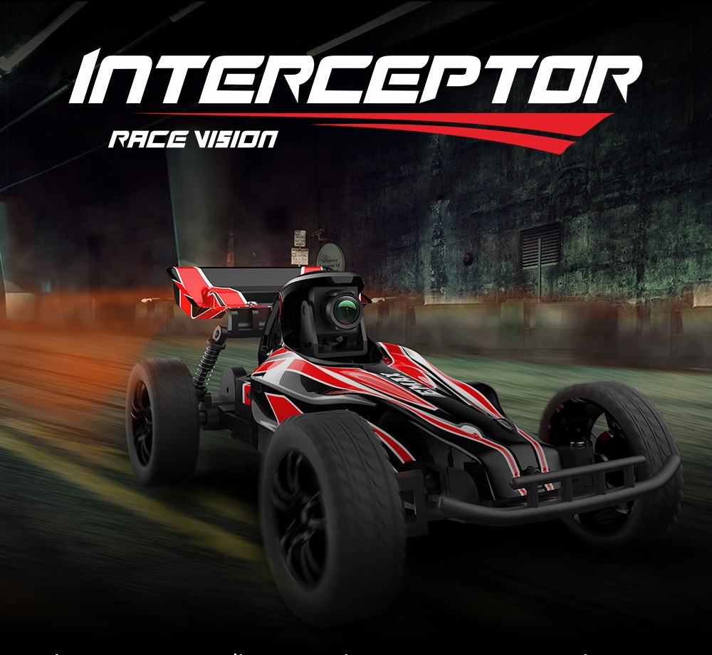 15% OFF for EMAX Interceptor 1/24 2.4G RWD FPV RC Car with Goggles Full Proportional Control RTR Model