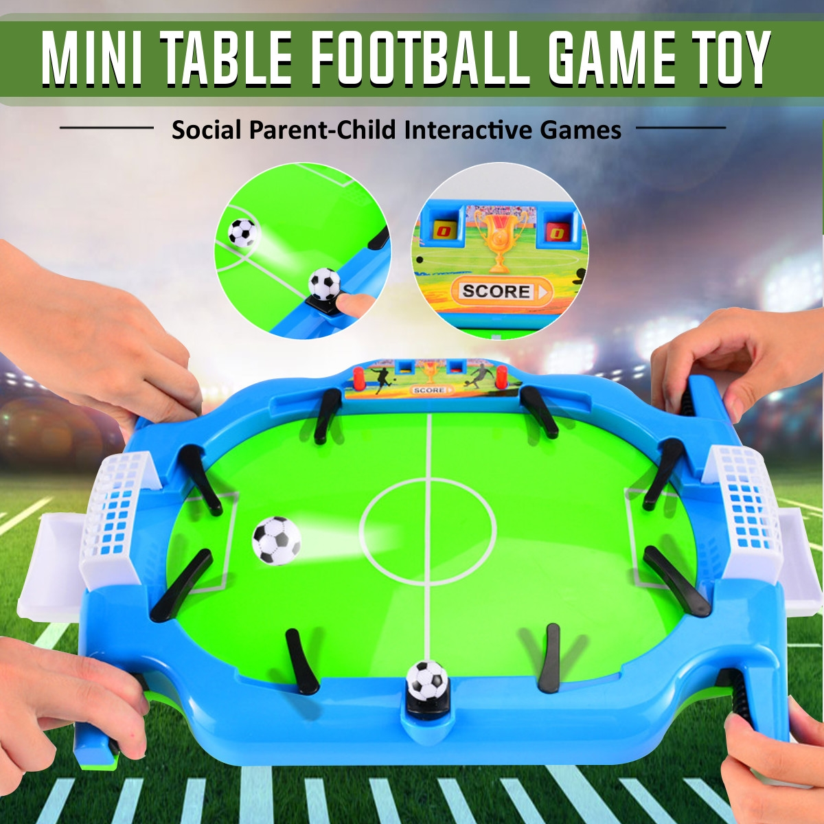 Mini Table Top Football Shoot Game Kit Desktop Soccer Board Game Kids Toys Gifts