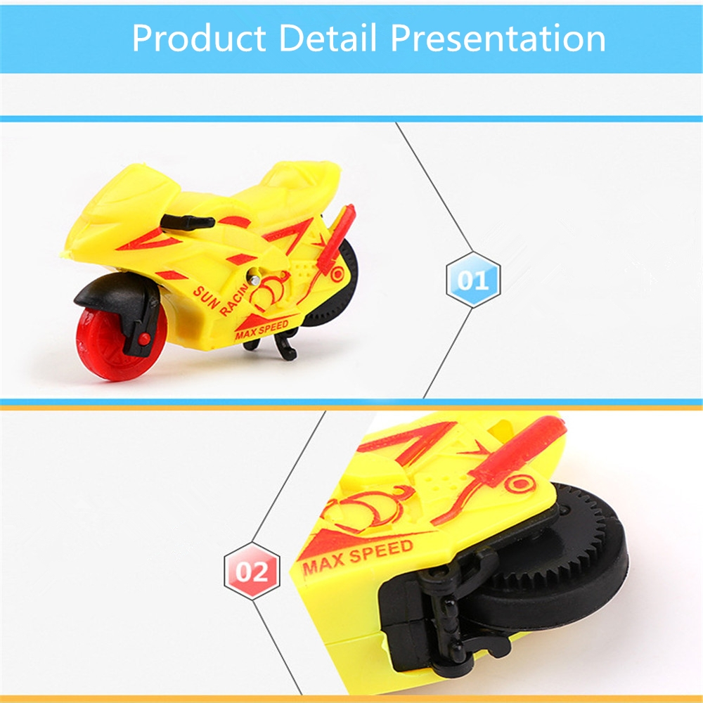 Simulation Pull Back Motorcycle Cool Inertia Motorcycle Trolley Kids Gift Toys
