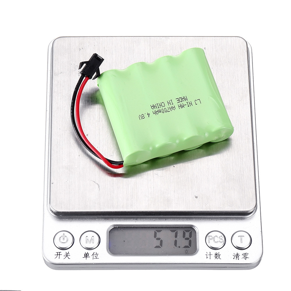 Wltoys 4.8V 700mAh Ni-cd Battery SM-2P Plug for 18428-B 1/18 DIY RC Car Model