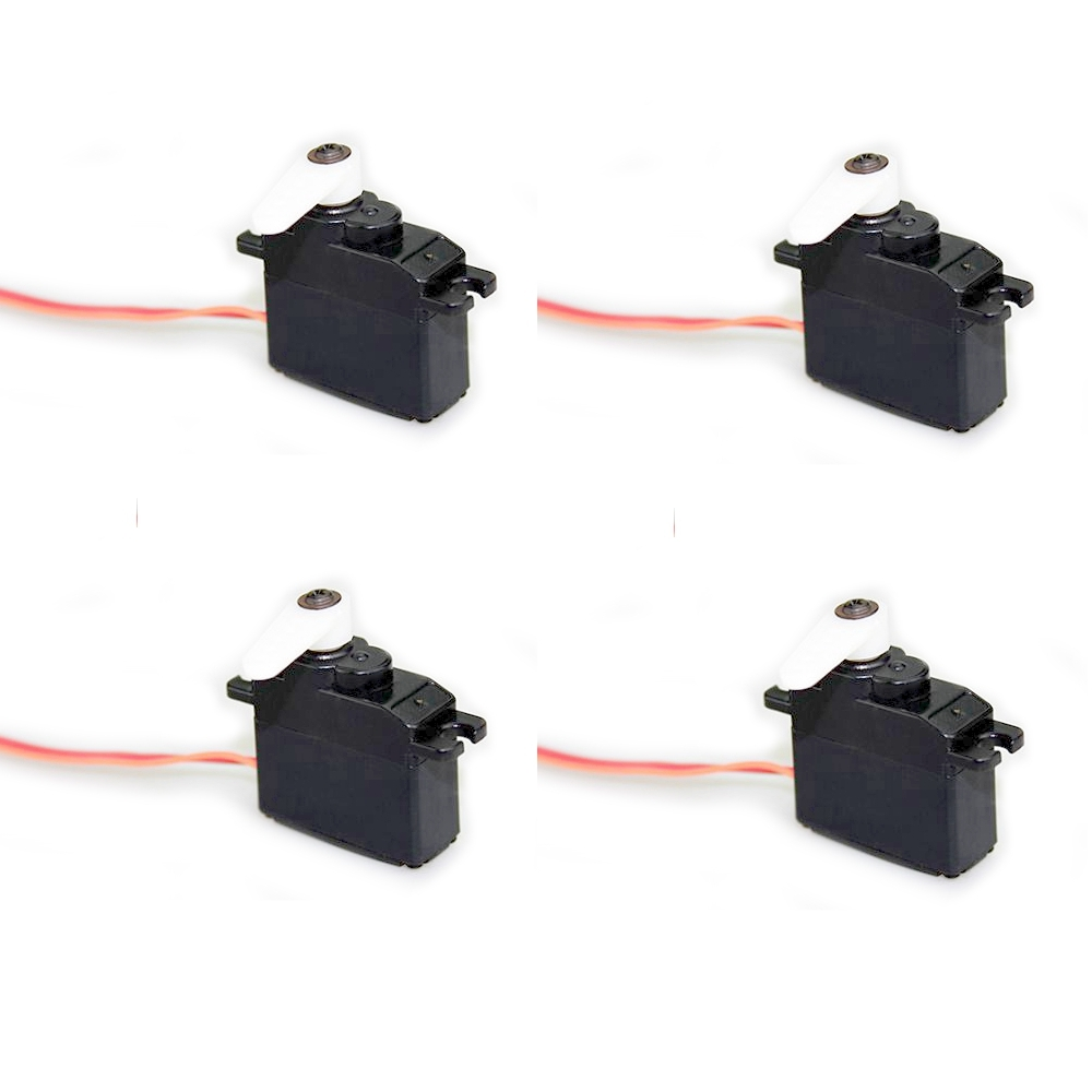 4 PCS Dynam Analog Micro Servo 17g 2.6kg/cm 5V for RC Airplane Fixed Wing Helicopter