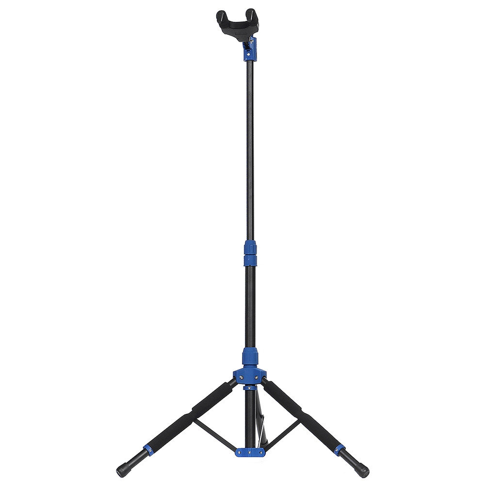 Galux Collapsible Tripod Guitar Stand Gravity Self-Locking Floor Standing Guitar Stand Portable Folding Musical Instrument Support