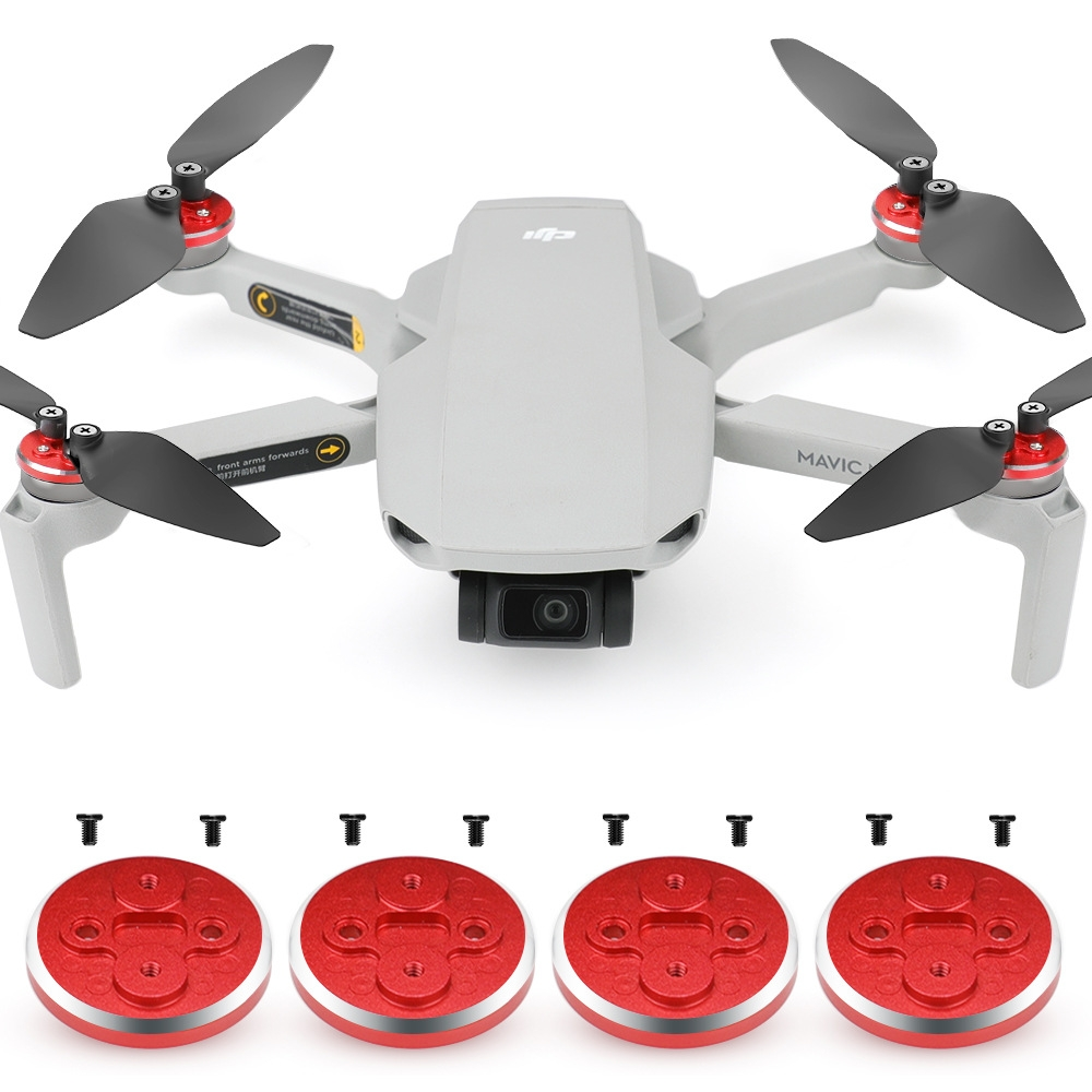 New Upgrade Motor Cover Aluminum Alloy Engine Protective Cover 4Pcs for DJI Mavic Mini RC Drone
