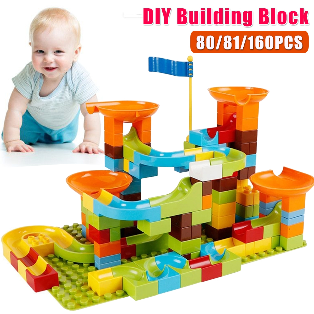 80/81/160Pcs DIY Assembly Kids Game Play Building Blocks Toys for Kids Gift