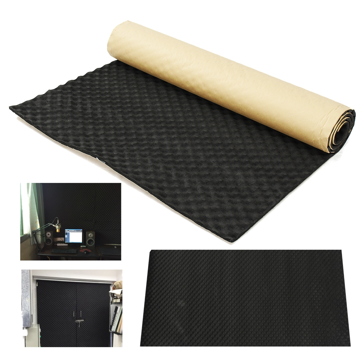20mm Self Adhesive Soundproof Foam Acoustic Foam Roll for Studio Car Audio Sound Deadening Proofing