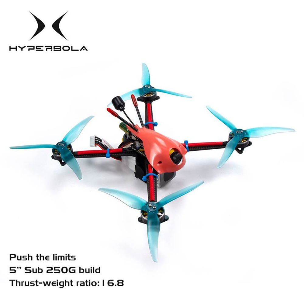 BrotherHobby Hyperbola 5 Inch 4S Frsky XM+ BNF FPV Racing Drone F4 FC Caddx Ratel Camera 35A ESC 2004 Motor 247g Take Off Weight