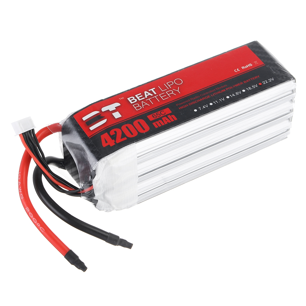 BT BEAT 22.2V 4200mAh 65C 6S Lipo Battery Without Plug for RC Racing Drone