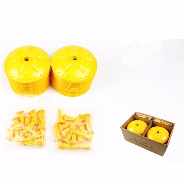 30PCS FPV Track Marker White and Yellow for Outdoor FPV Racing