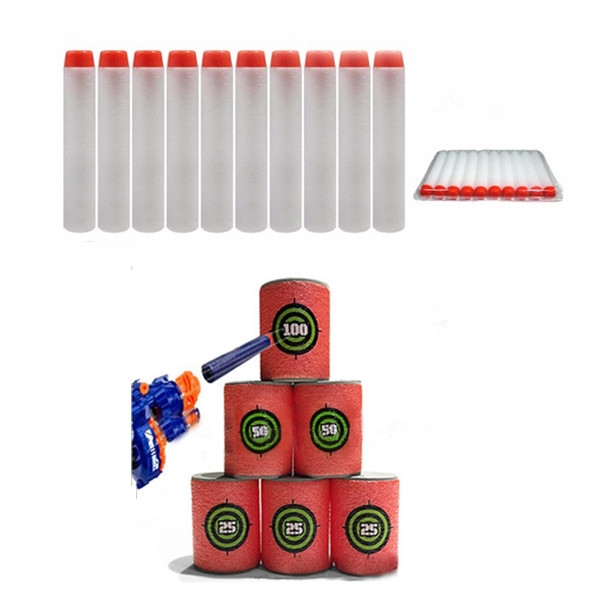 100PCS White Refill Bullets Dart For Nerf N-strike Elite Rampage Retaliator Series Blasters