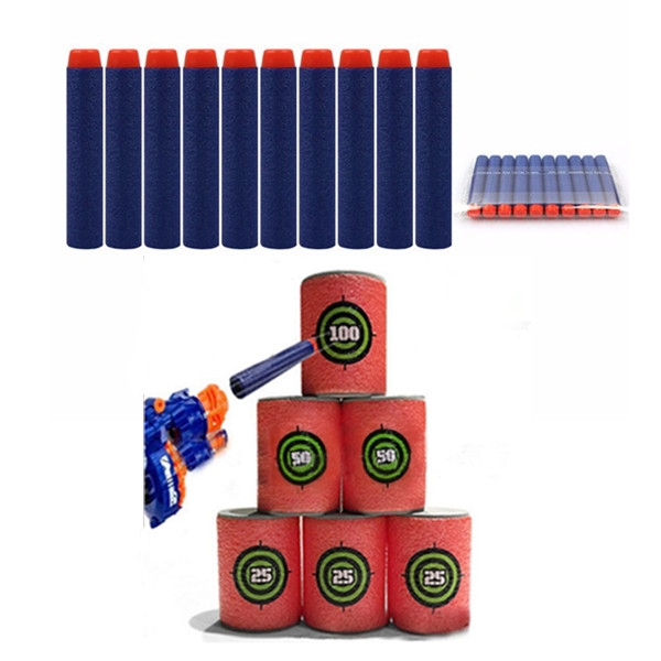 100PCS Refill Deep Blue Bullets Dart For Nerf N-strike Elite Rampage Retaliator Series Dark Blue