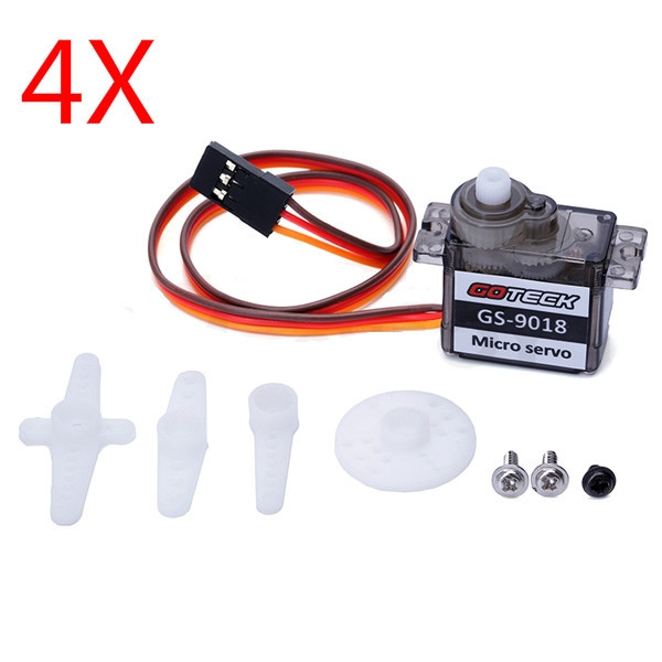 4X GOTECK GS-9018C Micro Servo 9g 1.5KG for RC Models