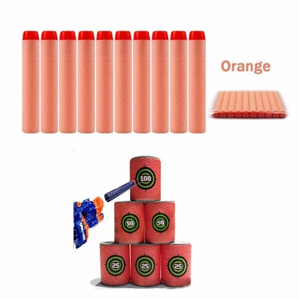 100PCS Refill Orange Bullets Dart For Nerf N-strike Elite Rampage Retaliator Series Blasters