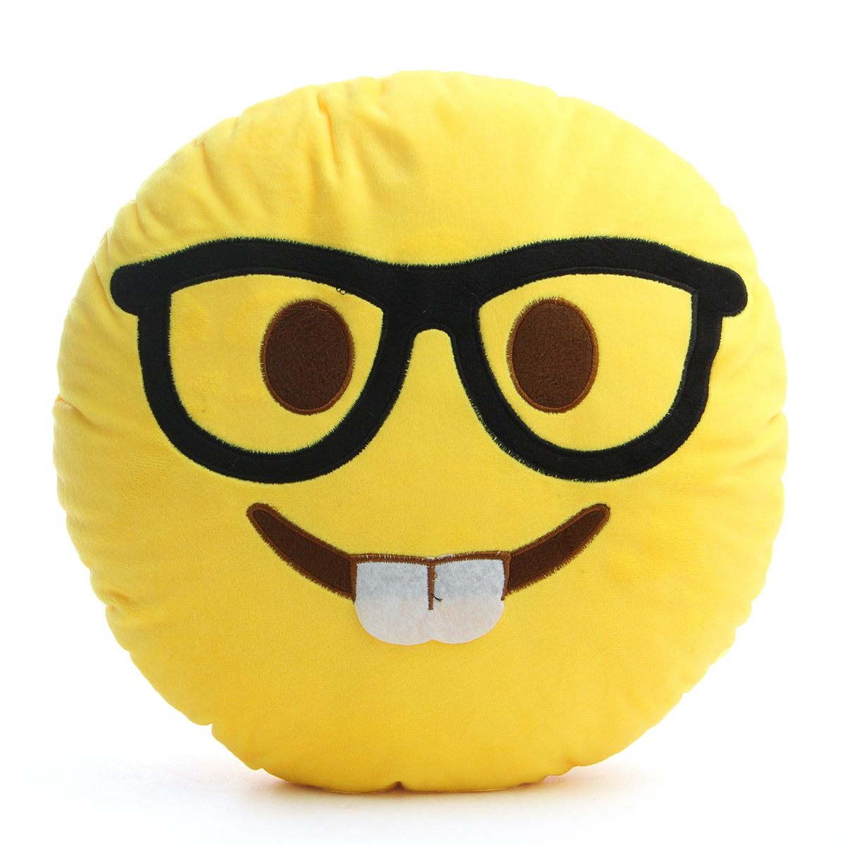 35CM Large Front Teeth Nerd Emoji Emoticon Plush PP Cotton Soft Toy