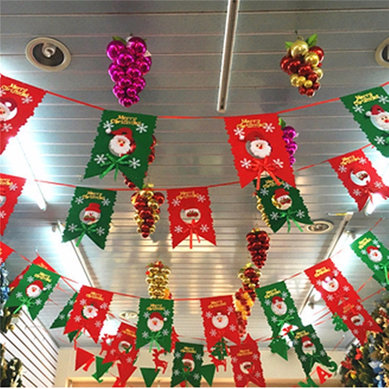Christmas Bunting Banner Party Xmas Wall Tree Hanging Decoration Ornament
