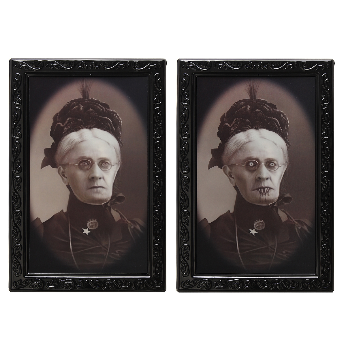 Hallowmas Lenticular 3D Changing Face Horror Portrait Haunted Spooky Decorations