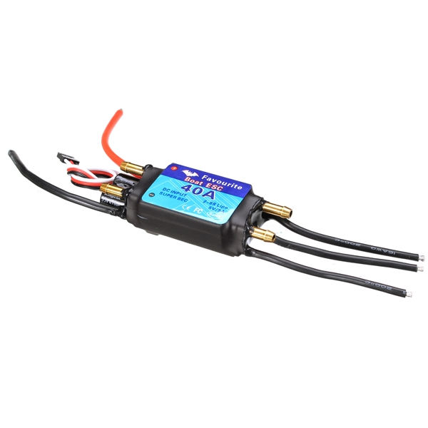 FVT BOAT040 40A Brushless BOAT ESC Speed Controller 5V/3A RC Boat Part