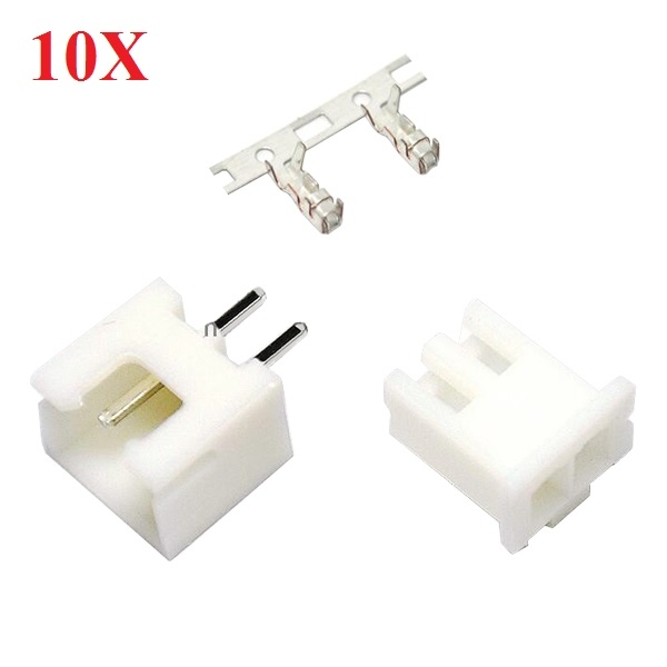 10X DIY Micro 1.25mm 2-Pin Male Female Straight Connector Plug