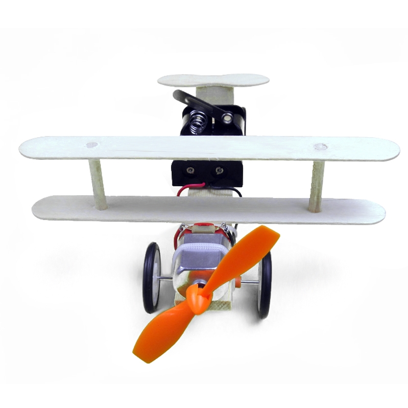 Scientific Puzzle Electric Taxiing Aircraft DIY Student Experiment Manual Material Science Model