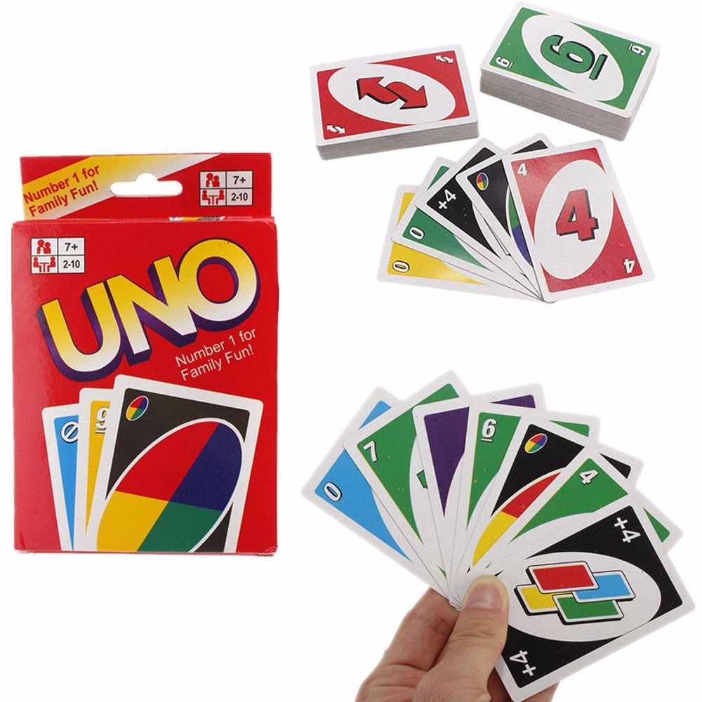 UNO 108 Fun Standard Playing Cards Game For Family Friend Travel Instruction NEW
