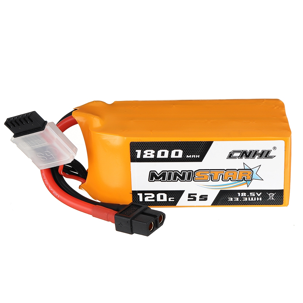 CNHL MINISTAR 18.5V 1800mAh 120C 5S Lipo Battery XT60 Plug for RC Racing Drone