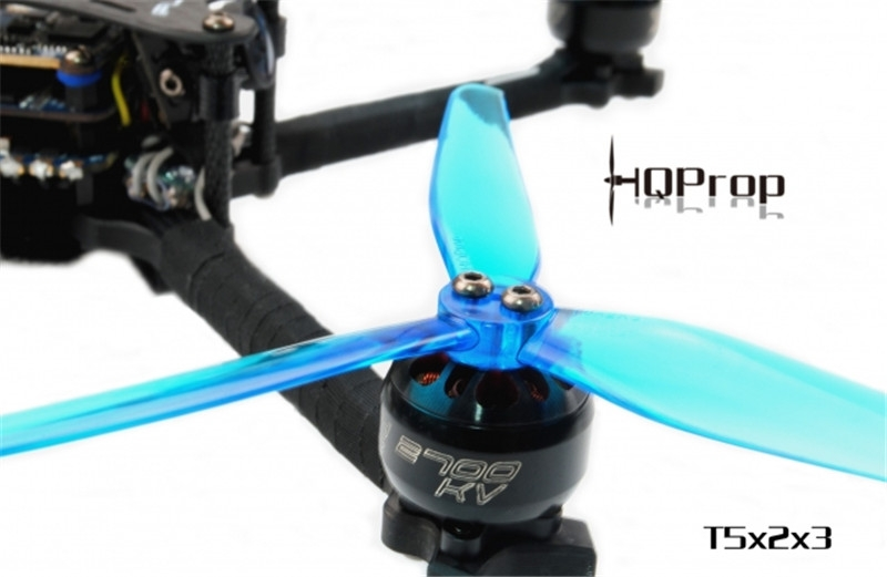 2Pairs HQ Durable Prop T5X2X3 5Inch Poly Carbonate Propeller Blue for FPV Racing RC Drone