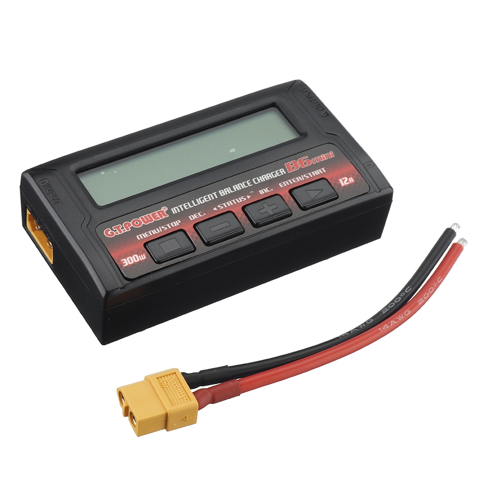 G.T.Power B6 MINI 300W 12A Intelligent Balance Charger for 1-6S Lipo Battery