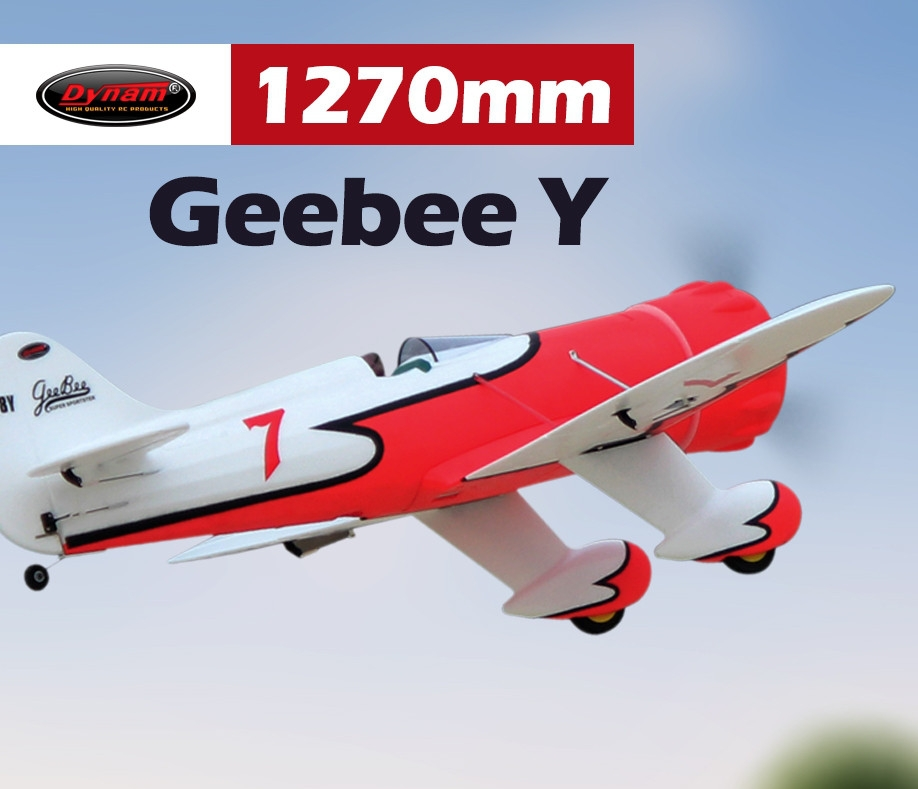 Dynam Gee Bee Y 1270mm Wingspan EPO 3D Aerobatic RC Airplane PNP
