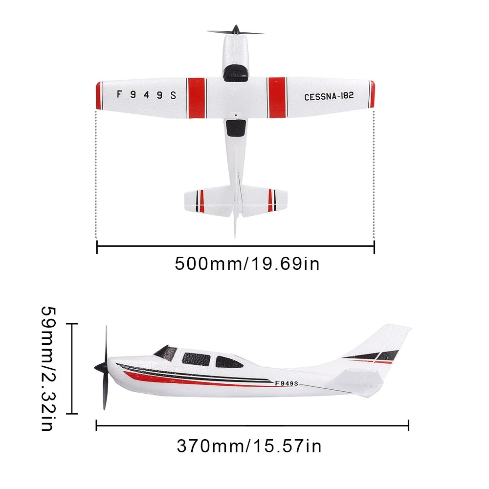 Wltoys F949S 3CH 2.4G Cessna-182 EPP RC Glider Airplane RTF Miniature Model Plane Outdoor Toy Built-in Gyroscope