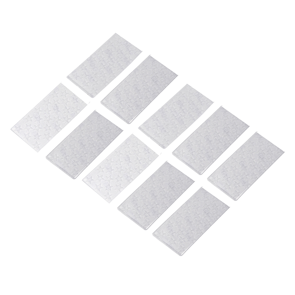 10Pcs URUAV PADSTAR 100x50mm Transparent Sticky Battery Mat Non-slip Pad Support Washing for Lipo Battery