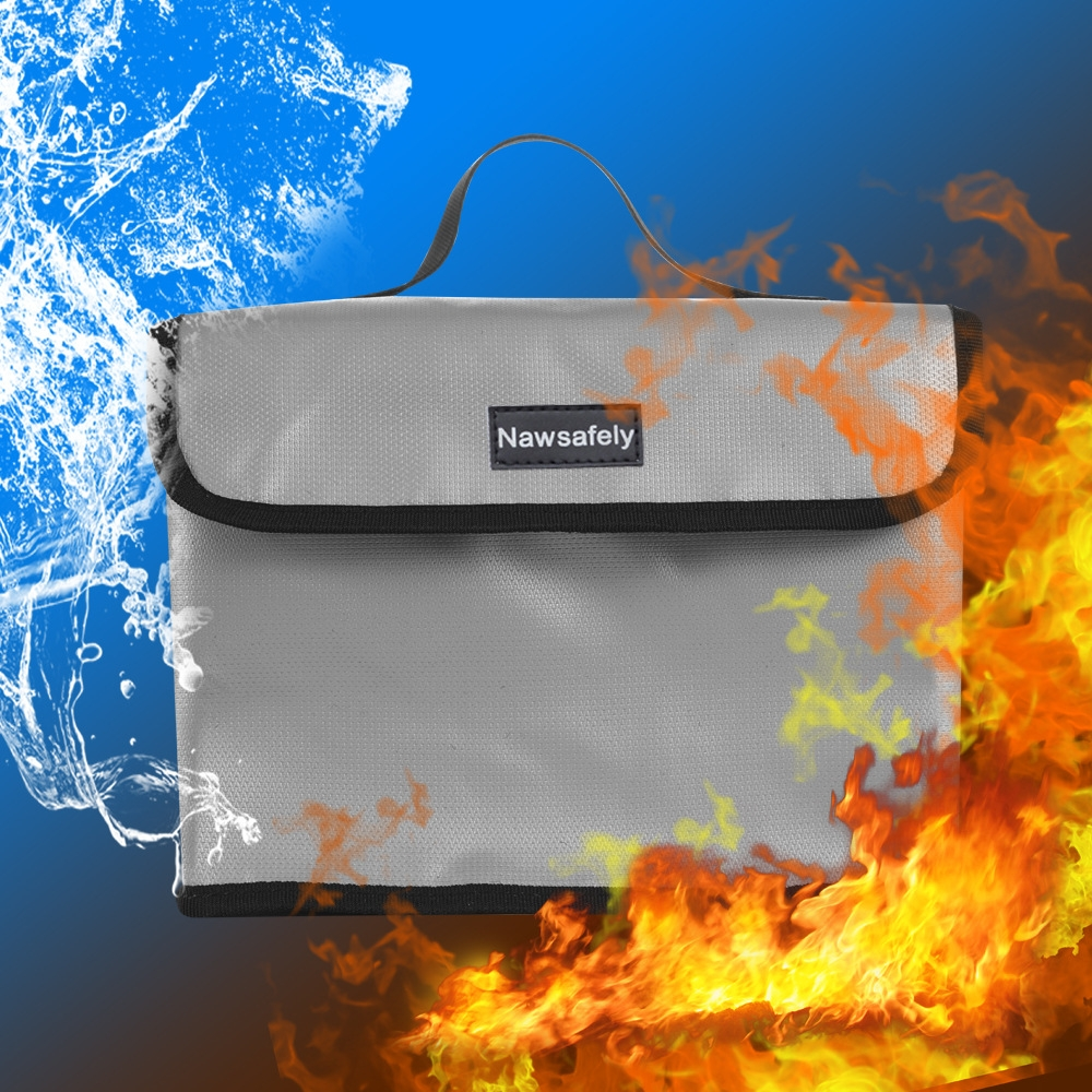 Nawsafely Waterproof Fireproof Explosion-proof Lipo Battery Safety Bag 260x180x130mm for RC Model Battery