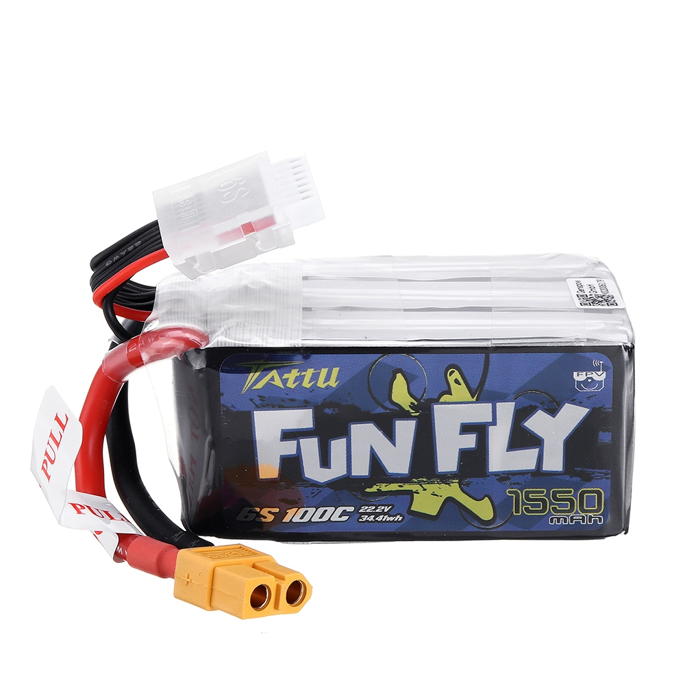 $35 for TATTU Funfly Series 22.2V 1550mAh Lipo Battery
