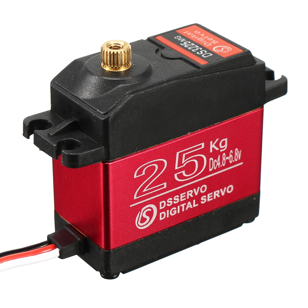 DSSERVO DS3225MG 25KG Waterproof Metal Gear Digital Servo For 1/8 1/10 1/12 RC Cars