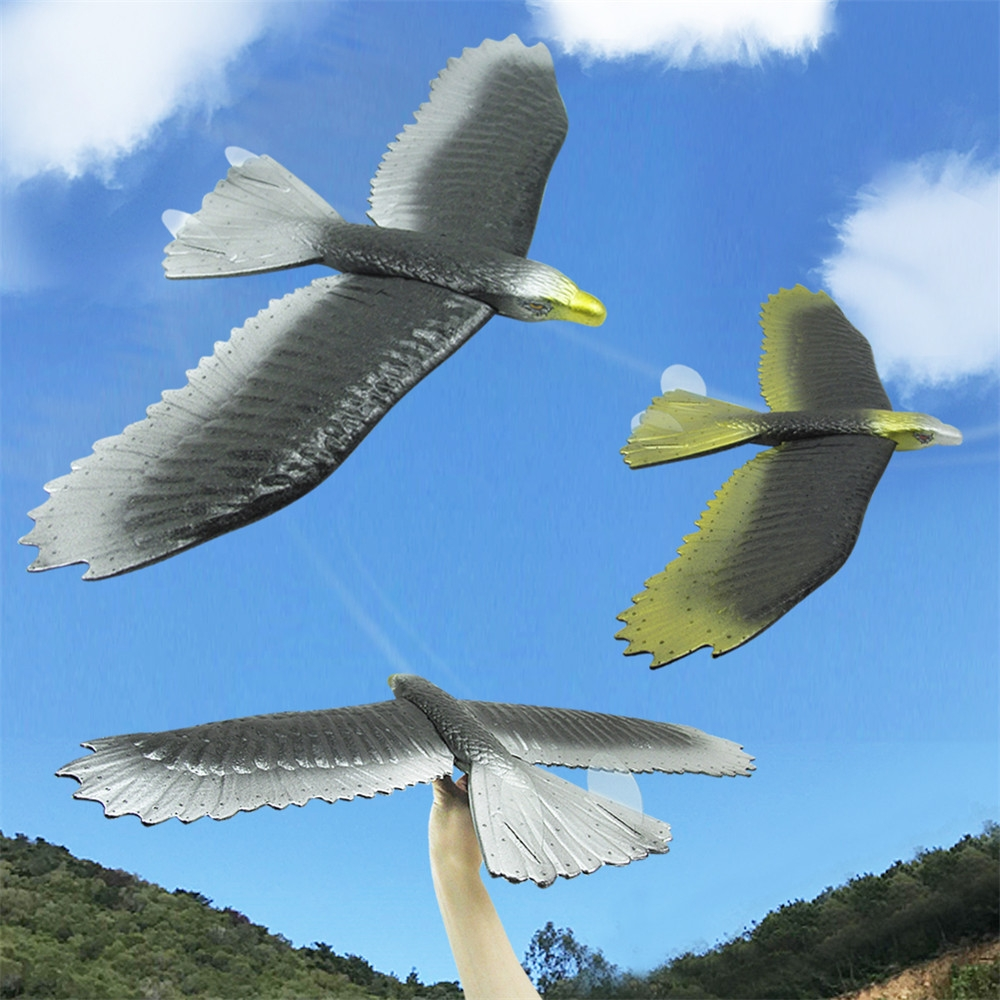 2 PCS Wingspan 57cm Hand Launch Throwing Simulation Eagle Aircraft Airplane DIY Inertial Foam EPP Children Plane Toy