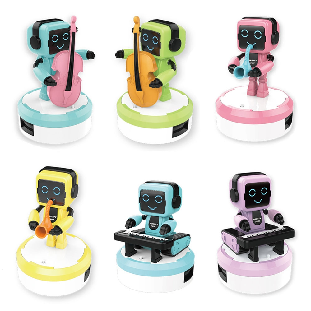 Mini Intelligent Robot Toy Remote Sensing Ensemble Band Swing Robot with Hi-fi Speaker